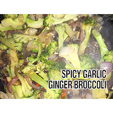 Spicy garlic ginger broccoli